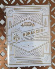 White Gold Monarchs Limited Ed Rare Playing Cards New & Sealed Theory 11 Deck