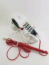"""Peanuts Snoopy 7.5"""" Collectible Novelty Vtg Telephone Phone plug in push button"""