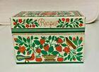 Charming Vintage Metal Recipe Box Hallmark U.S.A. Bird Strawberries Owl Floral
