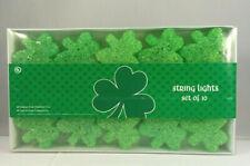 Irish Shamrock String Lights Set Of 10 New in Box Chunky Cluster style