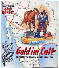 Originalzeichnung Titelbild Leihbuch Grenzreiterroman Wilhelm Eigener 50er Jahre