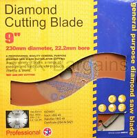 "9""  230MM 22.2MM BORE PROFESSIONAL UNIVERSAL DIAMOND CUTTING GRINDER DISC"