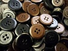 SLIGHT SECOND- REGENERATE LEATHER MIX BLACK&BROWN LARGE BUTTONS 23mm BARGAINS!!!