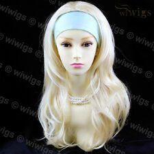Wiwigs Long Wavy Layered 3/4 Fall Hairpiece Pale Blonde Ladies Wig