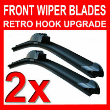 "22"" 19"" Aero FLAT Windscreen Front Wiper Blades Upgrade Pair Car"
