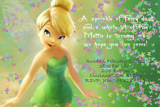 Tinkerbell Custom Designed Birthday Party Invitation - Butterflies