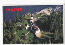 "*Maine Postcard-""Burnt Island Light Tower"" -/Built 1821/ (#33)"