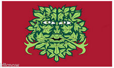 GREEN MAN FLAG 5FT X 3FT (reduced price- see below))