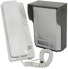 2 Wire Door Phone Entry Intercom System - Buzz/Ring & Answer for Security/Safety
