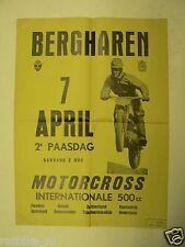 56-BERGHAREN MOTORCROSS POSTER 1969, MOTO CROSS
