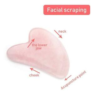Natural Rose Quartz Stone Guasha,Face,Neck Body Gua Sha Board Massager