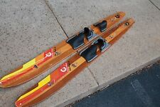 New listing Vintage Dick Pope Jr Cypress Gardens Wooden Water Skis - modified to wall hanger