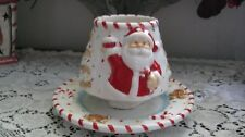 Homco Home Interior Gingerbread candle Topper & Plate S-H3