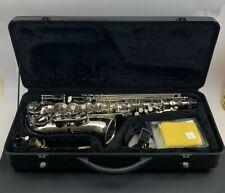 HELMKE Alto Saxophone Model 1088 Nickel-plated Silver Hard Shell Case Eb E Flat