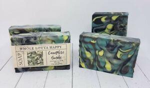 BULK 4 Pack Handmade ~ CAMPFIRE SMOKE ~ Fragrance Oil Soaps AUSTRALIAN MADE