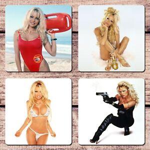 Pamela Anderson Coasters Set Sexy Pretty Woman For Coffee Tea Mug Cup