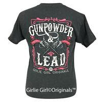 "Girlie Girl Originals ""Gunpowder & Lead 2"" Black Heather Short Sleeve T-Shirt"