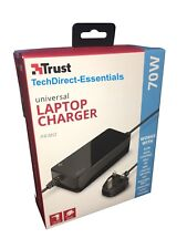 TRUST PRIMO Universal 70W Notebook / Laptop Charger / Power supply Black RRP £25