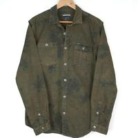 RVCA Mens Slim Camo Jacket Size Large Green/Brown