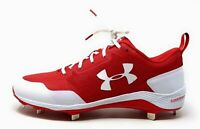 Under Armour Mens Yard Low Metal Baseball Bleats Red & White Size 13 M US
