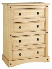 Home Puerto Rico 4 Drw Chest of Drawers - Light Pine
