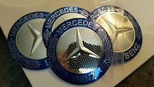 4 x MERCEDES Wheel Hub Caps Badge Emblem Stickers METAL 56mm HIGH QUALITY UK