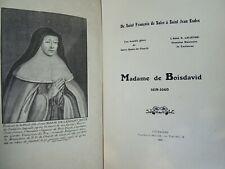 Boisdavid MADAME DE BOISDAVID 1619-1660