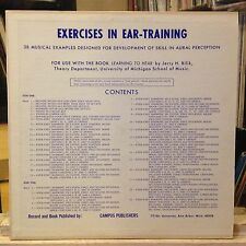 [SOUND EFFECTS/ODDITIES]~EXC LP~EXERCISES IN EAR-TRAINING~38 Musical Examples~