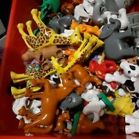 LEGO DUPLO FIGURES~YOU WILL GET A LOT OF 7 RANDOM ANIMALS FIGURES! FREE SHIP!!!