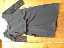 BNWT THE KOOPLES SPORT BLACK DRESS, LACE SLEEVES, XS, 6