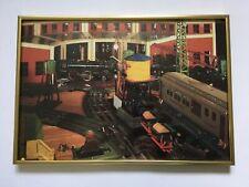 Vintage Model Trains Color Photograph Framed Art Print Gold Frame Lionel Decor