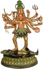 "Large Size Indian Hindu Goddess Maa Kali Sculpture Antique Finish 44"""