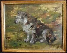 John Murray Thomson (1885–1974) British Oil Painting Sketch of a Faithful Dog