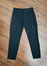 HELMUT LANG Women's Slim Fit Viscose Pants Black Size 0