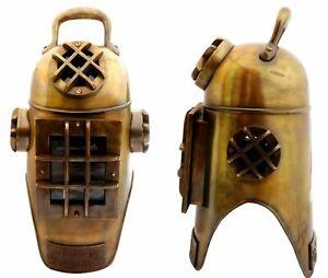 Antique Brass Scuba Deep Sea Divers Diving Helmet Morse Nautical Decor Style New