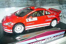 Maisto 38693, PEUGEOT 307 WRC, #5, Rosso stampati, Gronholm, 1/18, neu&ovp