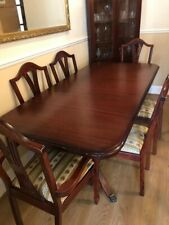 Mahogony Extendable Dining Suite Set Table With Six Chairs