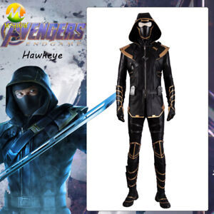 Avengers Endgame Hawkeye Ronin Clint Cosplay Costume Leather Suit for Halloween