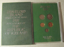Iceland Proof Coin set 1981, uncirculated.