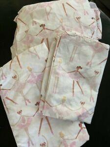 Pottery Barn Kids Ballerina twin sheet set pink FREE SHIPPING