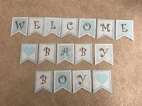 Baby Shower Welcome Baby Boy Bunting/banner decoration