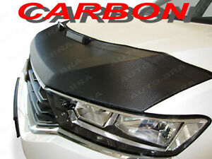 CARBON FIBER LOOK CAR HOOD BRA fits Volkswagen Amarok NOSE FRONT END MASK Tuning
