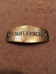 "lenny eva sentiment - Small- ""Highlanders"" - Blacksmith Custom- Antique Brass"