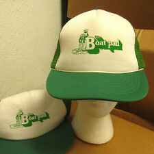 BOAT PAD vintage trucker cap Florida boating nautical hat frog logo 1970s retro