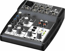 BRAND NEW Behringer XENYX 502 3-Channel 5-Input Compact Audio Mixer