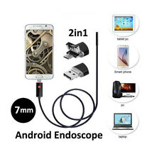 10M 7MM PC Android HD Endoscope Waterproof Snake Borescope USB Inspection Camera