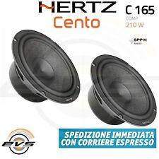 HERTZ C165 C 165 Coppia Mid Woofer 165 mm 210 W NUOVI Garanzia  Italia  2 Casse