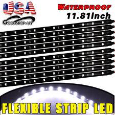 Multicolor 10pcs 30CM 15 LED Waterproof Light Strip Bar Car Motor Truck Boat 12V