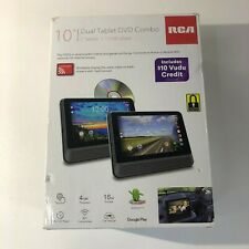 "RCA 10"" Dual Tablet/Portable DVD Player Combo with Android 7-062118291022"