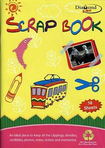 50 Sheets - A4 Coloured Paper Scrap Book For Art & Craft